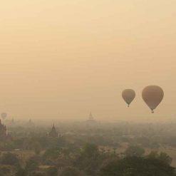 Montgolfière aux temples d'Angkor